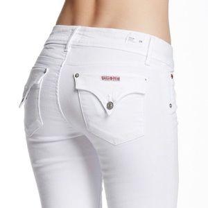 Hudson White Stella Triangle Pocket Jeans